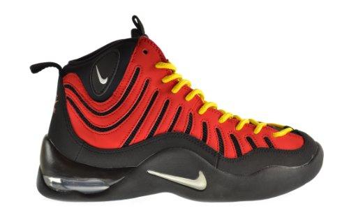 Nike Air Bakin' (GS) Big Kids Shoes Black/Pure Platinum/University Red/Tangerine Orange 316759-004 (4.5 M US) (Nike Air Bakin compare prices)