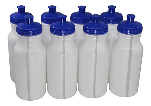 Sports Squeeze Plastic Water Bottles Push/pull Cap 20 Ounce Bpa-free Set 8 (Sport Bottles Bulk compare prices)
