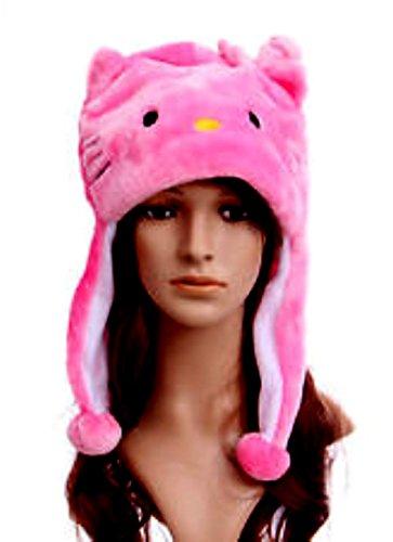 Pink Kitty Aviator Cosplay Plush Hat
