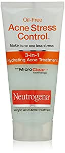 Neutrogena Oil Free Acne Stress Control 3-in-1 Hydrating Acne Treatment 2oz