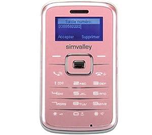 T�l�phone GSM SIMVALLEY RX180 ROSE IMPORT DE