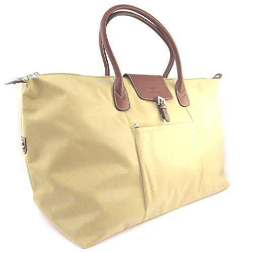 Travel bag 'Hexagona'naturale (60x35x20 cm).