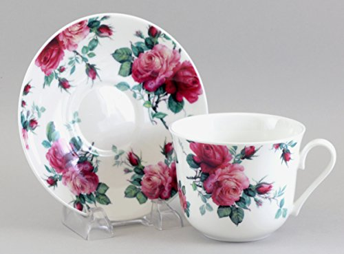Roy Kirkham Breakfast Cup And Saucer English Rose