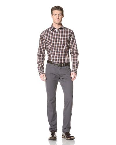 Hickey Freeman Men's Striped Long Sleeve Shirt