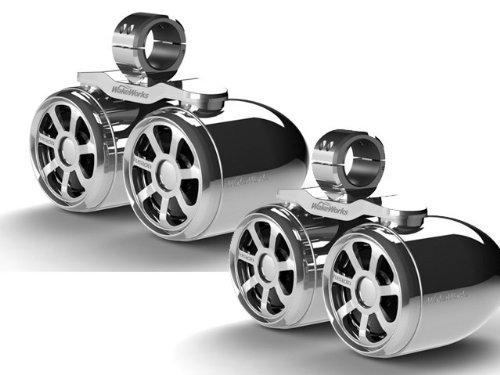 Wakeworks Double Twin Bullet Wakeboard Speakers 1 Pair