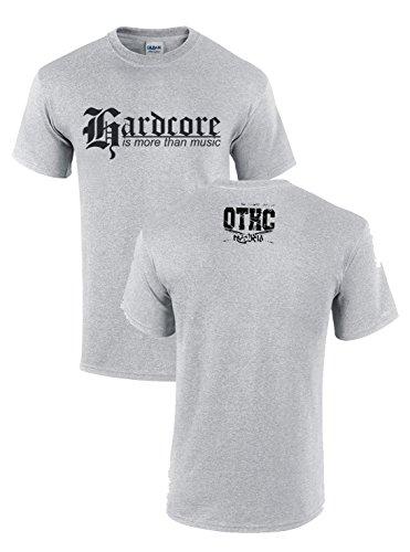 Oldtime Hardcore Clothing -  T-shirt - Basic - Collo a U - Uomo Erica grigio Small