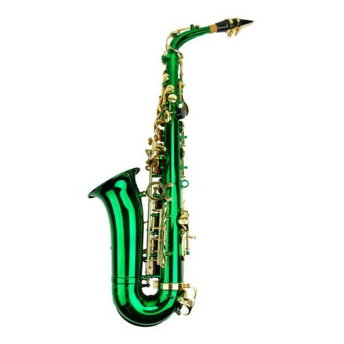 Merano E Flat Green Alto Saxophone with Zippered Hard Case ...