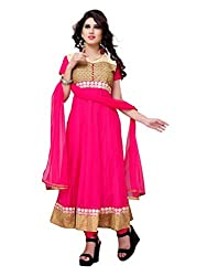 Diva Fusion Women Net Dress Material (Dfa116 _Pink)
