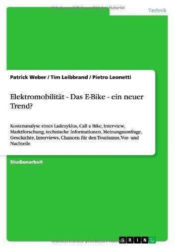 Elektromobilitat - Das E-Bike - Ein Neuer Trend? (German Edition)