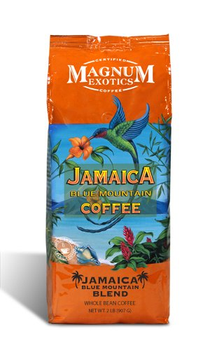Magnum Jamaican Blue Mountain Blend Coffee, Whole Bean, 2 Lb Bag
