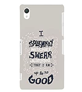 Good To No Mischief Cute Fashion 3D Hard Polycarbonate Designer Back Case Cover for Sony Xperia Z2