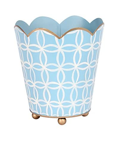 Jayes Rings Decorative Cachepot, Blue