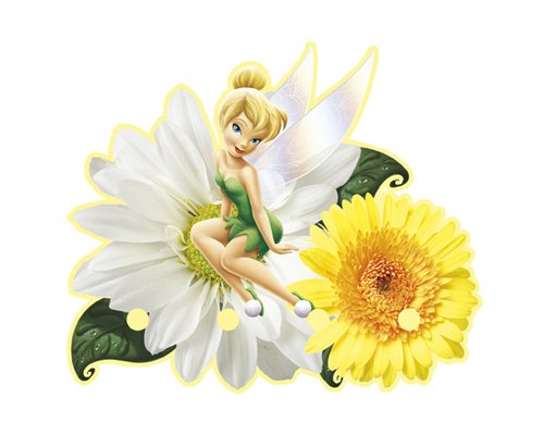 Blue Mountain Disney Fairies 3D045 Foam Wall Hook, Green - 1