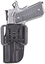 Blade Tech OWB Holster for Springfield XD 40 Shield with Adjustable Sting Ray Loop (Black, 4-Inch)