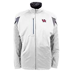 Houston Cougars NCAA Highland Mens Full Zip Sports Jacket (White) by Antigua