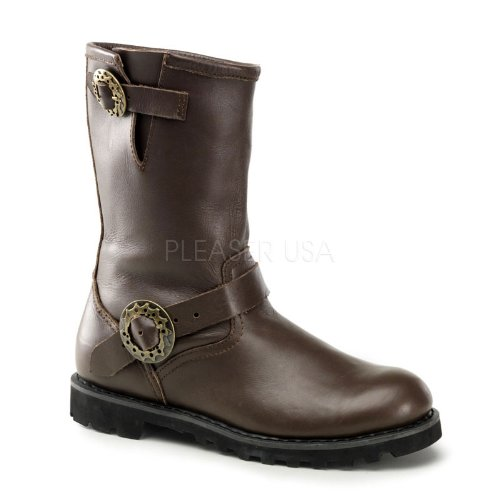Demonia-by-Pleaser-Womens-STEAM-Steampunk-Brown-Leather-Boot-10-BM-US