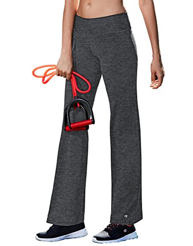 Champion Women's Absolute Semi-Fit Pant with Smoothtec Waistband, Granite Heather, MS