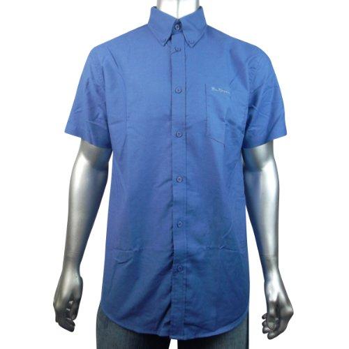 Mens Ben Sherman Oxford Eton Cotton Classic Smart Short Sleeve Shirt Size L
