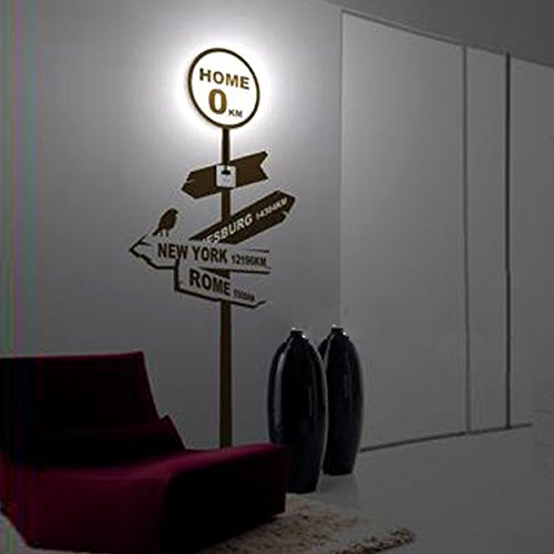 3D Wallpaper Home Lamp Sticker Wall Light Decor Wall Lamp
