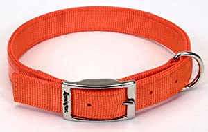 Remington Orange 1-Inch by 24-Inch Reflective Dog Collar