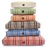 Hemp Brown Stripe Rectangle Dog Bed - Large 36x44x5