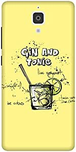 The Racoon Grip printed designer hard back mobile phone case cover for Xiaomi Mi 4. (Lemon Gin)