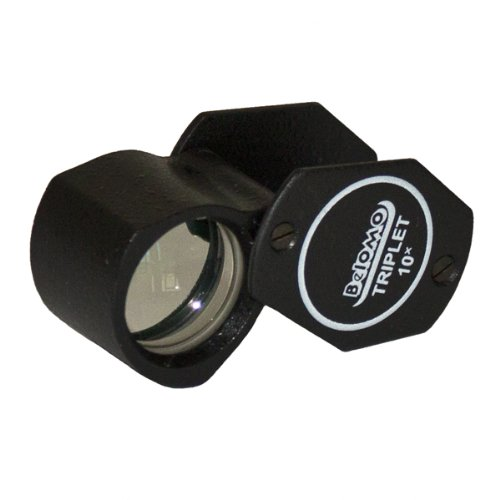 Belomo 10X Triplet Loupe Folding Magnifier - High-Quality Optical Glass With Antireflection Coating