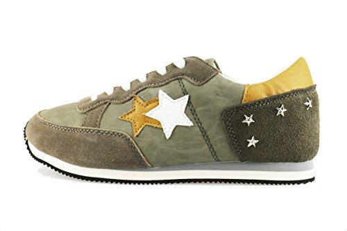 2 STAR sneakers uomo 39 EU marrone camoscio verde pelle AG03
