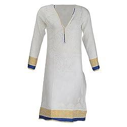 AKS Lucknow Women's Poly Cotton Regular Fit Kurti