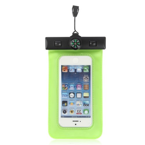 Pioneer Tech® Portable Compass Underwater Waterproof Diving Bag Pouch Case Cover For Iphone 4S 5 5S 5G (Fsw-Green)