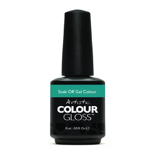 Artistic Nail Design Soak Off Colour Gloss Manicure Blue Teal Polish 3117 Chill