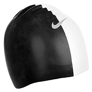 Nike - Geformte Badekappe - Silikon - Schwarz/Weiß - Einheitsgröße
