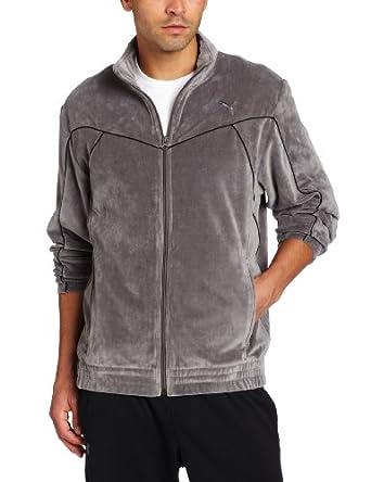 PUMA Men's Velour Jacket, Castlerock, Medium