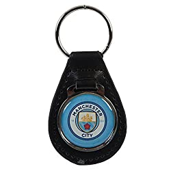 Manchester City F.C. Leather Keychain