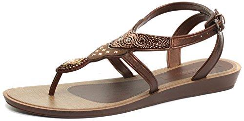 Bronzo Di Grendha Womens Sandali Adornos Sandalo UK6 Bronze