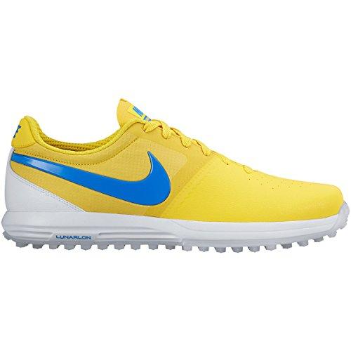 Nike-Lunar-Mont-Royal-Zapatillas-de-golf-para-hombre-color-amarillo-azul-blanco-talla-41