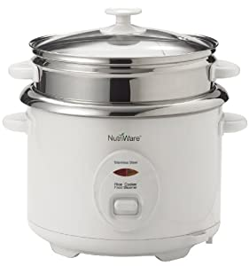 Aroma NRC-600 Nutriware 16-Cup Pot-Style Rice Cooker and Food Steamer