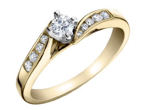 Diamond Engagement Ring in 14K Yellow Gold .25 Carat to 1.00 Carat (ctw)