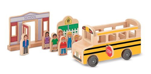 Melissa & Doug Whittle World - School Bus Set (Wood Toy Bus compare prices)