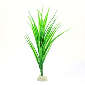 Amazon.com : Aquarium Tank Green Plastic Grass Plant Decoration 10.6