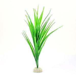 Amazon.com : Aquarium Tank Green Plastic Grass Plant Decoration 10.6