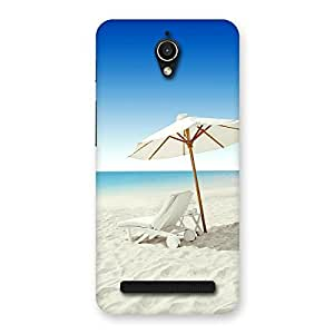 Cute Vaccation Multicolor Back Case Cover for Zenfone Go