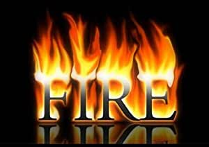 "Word Fire - 36""W x 25""H - Peel and Stick Wall Decal by Wallmonkeys"