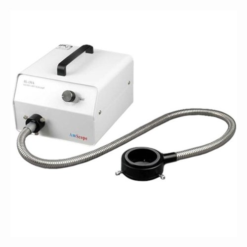 Amscope Hl150-Ar Microscope Halogen Fiber Optic Ring Illuminator 150W