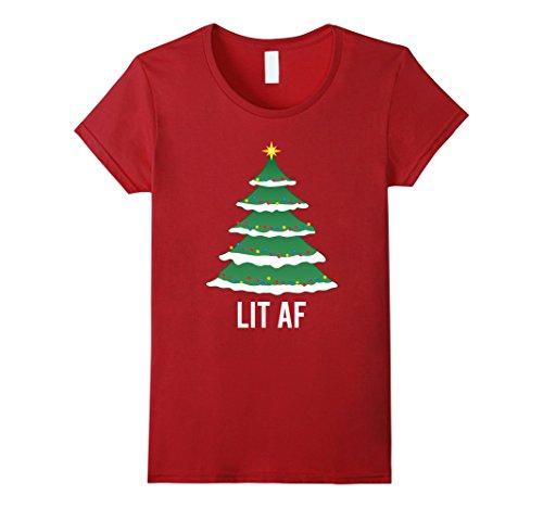 Christmas-Tree-Lit-AF-T-Shirt