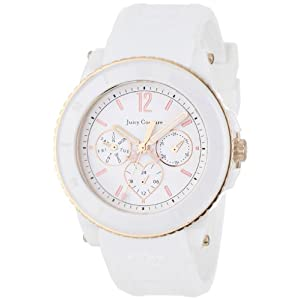 Juicy Couture Women's 1900755 Pedigree White Ceramic Rose-Tone Watch
