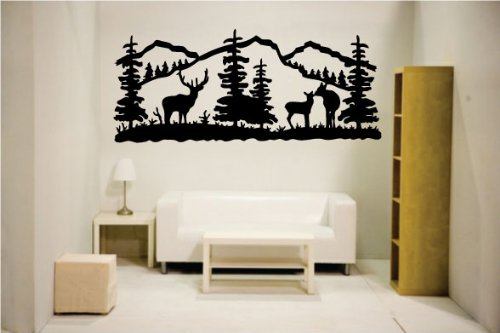 Newclew Elk deer nature mountain hunting removable Vinyl