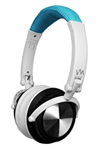 VM Audio SRHP3 Stereo MP3/iPhone iPod Over Head On Ear DJ Headphones Blue/White