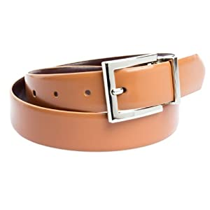 Calvin Klein Womens Reversible Belt M Brown & Coral
