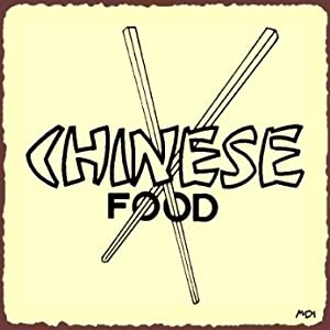 Chinese Food Rustic Vintage Metal Art Restaurant Retro Tin Sign